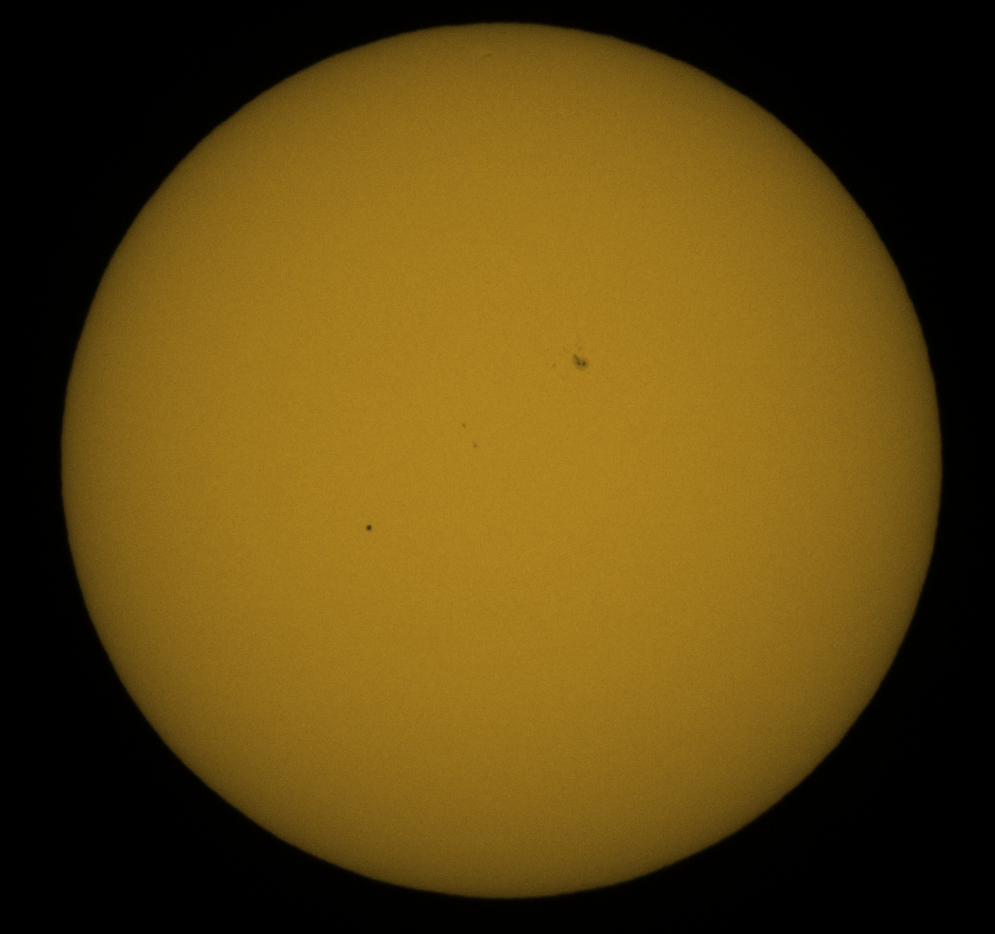 Transit of Mercury across the Sun